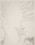 Original Comic Art:Sketches, Charles Vess Witch Sketch Original Art (1979)....