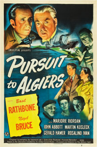 "Pursuit to Algiers (Universal, 1945). One Sheet (27"" X 41"")"
