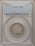 Seated Quarters, 1878-S 25C VF20 PCGS....