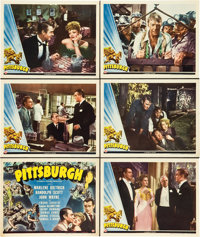 "Pittsburgh (Universal, 1942). Title Lobby Card and Scene Cards (5) (11"" X 14""). ... (Total: 6 Items)"