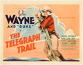 "Movie Posters:Western, The Telegraph Trail (Warner Brothers, 1933). Title Lobby Card (11"" X 14"").. ..."