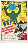 """Movie Posters:Science Fiction, It! The Terror from Beyond Space (United Artists, 1958). One Sheet(27"""" X 41"""").. ..."""