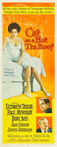 """Movie Posters:Drama, Cat on a Hot Tin Roof (MGM, 1958). Insert (14"""" X 36"""").. ..."""