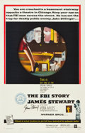 """Movie Posters:Crime, The FBI Story (Warner Brothers, 1959). Autographed One Sheet (27"""" X41"""").. ..."""