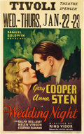"Movie Posters:Drama, The Wedding Night (United Artists, 1935). Window Card (14"" X 22"")....."