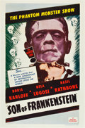 "Movie Posters:Horror, Son of Frankenstein (Realart R-1953). One Sheet (27"" X 41"").. ..."