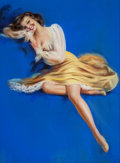 Pin-up and Glamour Art, BILLY DE VORSS (American, 1908-1985). Beauty in Yellow.Pastel on board. 34 x 25 in.. Signed at center. From theEst...