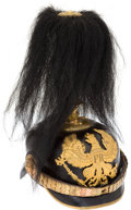 Military & Patriotic:WWI, Prussian Model 1897/1915 Infantry Officers' Pickelhaube With Black Horsehair Parade Plume....