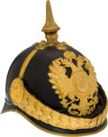 Military & Patriotic:WWI, Fantastic Ornate Austrian Model 1899 Officers' Gendarmerie Pickelhaube....