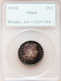 Proof Barber Quarters, 1900 25C PR65 PCGS....