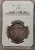 Bust Half Dollars, 1807 50C Capped Bust, Small Stars XF45 NGC. O-113, R.2....