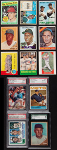 Baseball Cards:Lots, 1955 to 1994 Stars, Commons and Rookie Collection (44) IncludingGraded Examples. ...