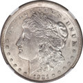 Errors, 1921 $1 Morgan Dollar -- Broadstruck -- AU58 NGC....