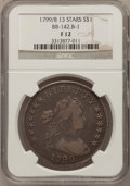 Early Dollars, 1799/8 $1 13 Stars Reverse Fine 12 NGC. B-1, BB-142, R.4....