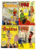 Magazines:Humor, Army & Navy Fun Parade/Hello Buddies Digest Damaged File CopyShort Box Group (Fun Parade, 1940s-50s) Condition: Average FR....