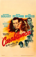 "Movie Posters:Academy Award Winners, Casablanca (Warner Brothers, 1942). Window Card (14"" X 22"").. ..."