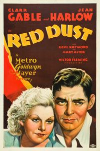 """Red Dust (MGM, 1932). One Sheet (27"""" X 41"""") Style D"""