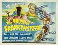 "Movie Posters:Horror, House of Frankenstein (Universal, 1944). Title Lobby Card (11"" X14"").. ..."