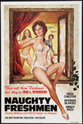 """Movie Posters:Adult, Naughty Freshmen Lot (SRC Films, 1970). One Sheets (2) (27"""" X 41""""). Adult.. ... (Total: 2 Items)"""