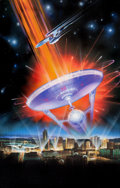 Mainstream Illustration, AMERICAN ARTIST (20th Century). Star Trek, The Experience,advertisement poster, 1996. Acrylic and airbrush on board.40...