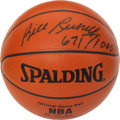 """Basketball Collectibles:Balls, Bill Russell """"671/1000"""" Single Signed Leather """"Spalding"""" Game Basketball. ..."""
