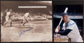 Baseball Collectibles:Photos, Mickey Mantle and Joe DiMaggio Signed Photographs Lot of 2....