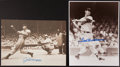 Baseball Collectibles:Photos, Joe DiMaggio and Ted Williams Signed Oversized Photographs Lot of2....