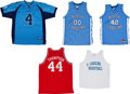 Basketball Collectibles:Uniforms, North Carolina and NC State Signed Jerseys Lot of 5....
