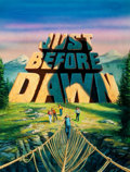 Mainstream Illustration, BOB LARKIN (American, 20th Century). Just Before Dawn, originalmovie poster illustration. Airbrush and gouache on board...