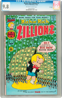 Richie Rich Zillionz #1 File Copy (Harvey, 1976) CGC NM/MT 9.8 Off-white to white pages
