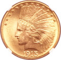 Indian Eagles, 1913 $10 MS64+ NGC. CAC....