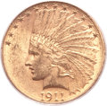 Indian Eagles, 1911-S $10 MS61 PCGS....