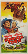 "Movie Posters:Western, Bonanza Town (Columbia, 1951). Three Sheet (41"" X 81""). Western.. ..."