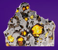 Meteorites:Palasites, GLORIETA MOUNTAIN - PARTIAL SLICE OF A FABLED AMERICAN METEORITE ....
