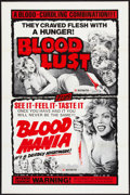 "Movie Posters:Horror, Blood Mania / Blood Lust Combo (Crown International, 1970). One Sheet (27"" X 41""). Horror.. ..."