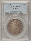 Seated Half Dollars, 1874-CC 50C Arrows VG8 PCGS....