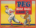 Baseball Collectibles:Others, 1935 Parker Brothers Peg Baseball Board Game....