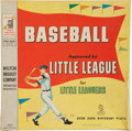Baseball Collectibles:Others, 1958 Milton Bradley Little League Baseball Board Game....