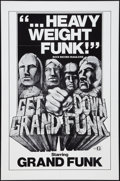 "Movie Posters:Rock and Roll, Get Down Grand Funk (Craddock Films, R-1970s). One Sheet (27"" X41""). Rock and Roll.. ..."
