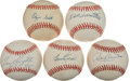 Autographs:Baseballs, Major League Legends Single Signed Baseballs Lot Of 5 IncludingKillebrew On a MacPhail ball !...