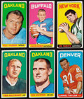 Football Cards:Sets, 1965 Topps Football Partial Set (118/176) With Namath. ...