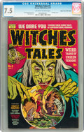 Golden Age (1938-1955):Horror, Witches Tales #3 Mile High pedigree (Harvey, 1951) CGC VF- 7.5Off-white to white pages....
