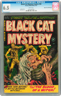 Golden Age (1938-1955):Horror, Black Cat Mystery #38 Mile High pedigree (Harvey, 1952) CGC FN+ 6.5White pages....