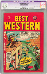 Best Western #58 Mile High pedigree (Marvel, 1949) CGC Apparent FN+ 6.5 Slight (P) White pages