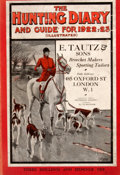Books:First Editions, The Hunting Diary For 1922-23: A Guide and Handbook forFollowers of Hounds. London: S. B. Vaughan, [ca. 1922]. Firsted...