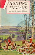 Books:First Editions, William Beach Thomas. Hunting England. London: B. T.Batsford, [1936]. First edition. Octavo. Publisher's binding an...