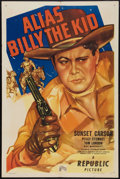 "Movie Posters:Western, Alias Billy the Kid (Republic, 1946). One Sheet (27"" X 41"").Western.. ..."