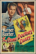 "Movie Posters:Mystery, The Crime Doctor's Diary (Columbia, 1949). One Sheet (27"" X 41"").Mystery.. ..."