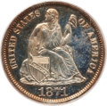 Proof Seated Dimes: , 1871 10C PR63 Cameo PCGS. PCGS Population (5/12). NGC Census:(7/17). (#84764)...