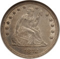 Seated Quarters, 1873 25C Open 3, No Arrows AU58 NGC. NGC Census: (3/16). PCGSPopulation (1/23). Mintage: 172,000. Numismedia Wsl. Price fo...